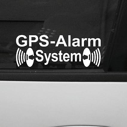 Lapyx: alarma coche sistema GPS, pegatina de 31 x 84 mm para coche o