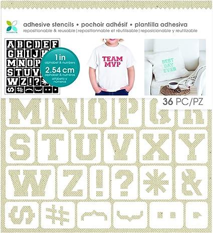 Momenta Script Alphabet Adhesive Stencil