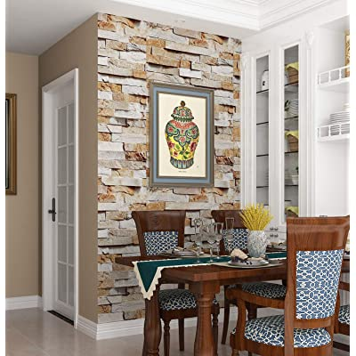 Buy Livelynine 3d Wallpaper Roll Brick Wall Paper Sticker Pull And Stick Stone Wallpaper For Bedroom Walls Kitchen Backsplash Bathroom Living Room Accent Wall Decorative Removable 15 8x78 8 In Online In Indonesia B08h2kmqty