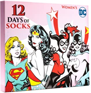 12 days of socks womens dc comics size 4 10