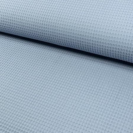 Tela de algodón piqué cuadriculada claro azul: Amazon.es: Hogar
