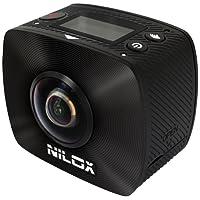 Nilox, Action Cam EVO 360 +, Full HD 1920x960p, 30 fps, 4.5 MP, Riprese a 360°, Nera
