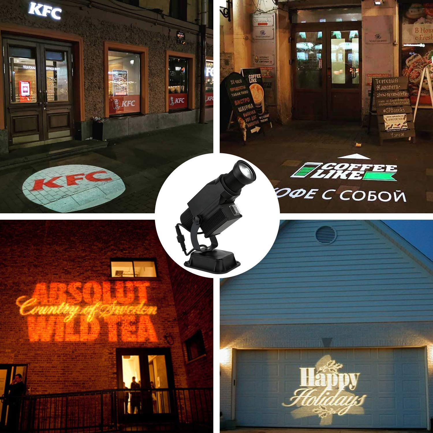 logo image color mount LED Logo Gobo Projector THREE COLOR