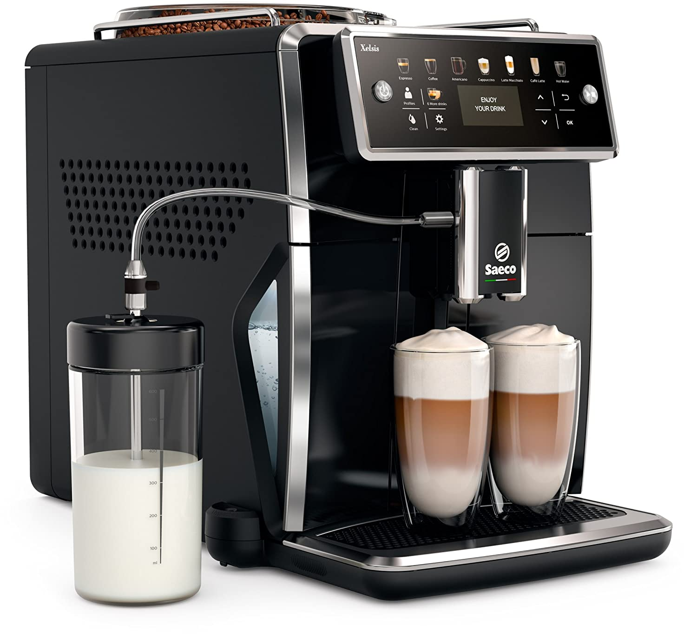 Philips Saeco Xelsis SM7580/00 Kaffeevollautomat (LED Display) pianoschwarz (FR Version)