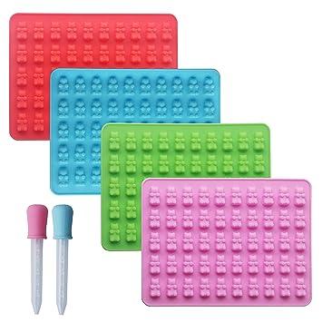 HomEdge - Moldes de silicona para chupete con forma de oso ...