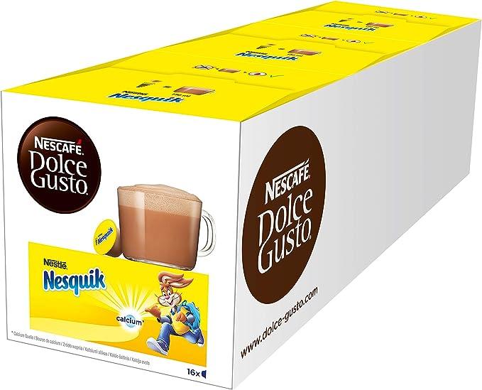 NESCAFÉ Dolce Gusto Nesquik, Pack de 3 x 16 Cápsulas - Total: 48 ...