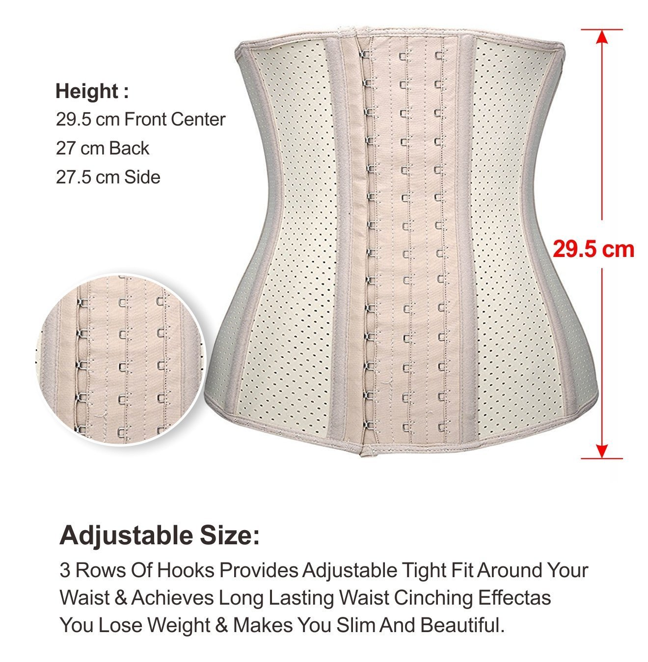 72dc230cee259 YIANNA Women s Breathable Latex Waist Training Corset Fat Burning Workout  Waist Trainer Hourglass Body Shaper