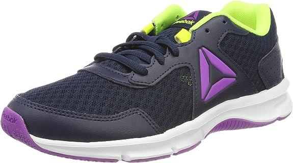 Reebok Express Runner, Zapatillas de Running para Mujer, Azul (Collegiate Navy/Solar Yel/Vic Violet/Whi), 44 EU: Amazon.es: Zapatos y complementos