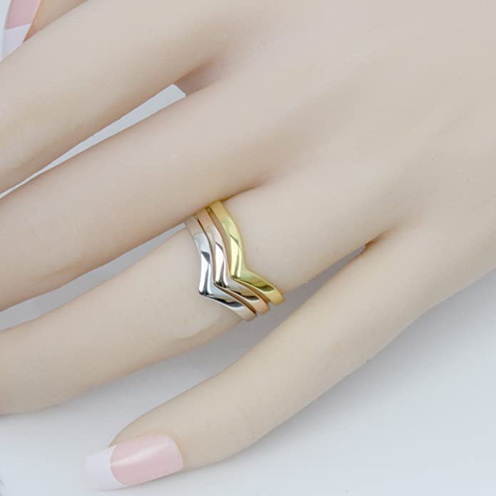 Simple Sterling Silver Chevron Stacking Ring  Stackable Ring Sz N 925 U.S. 6 34
