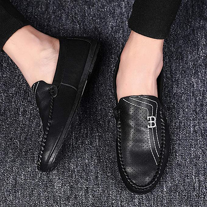 Men Driving Casual Peas Shoes Suede Loafers Oxford Moccasins Slip-on Falt Shoes