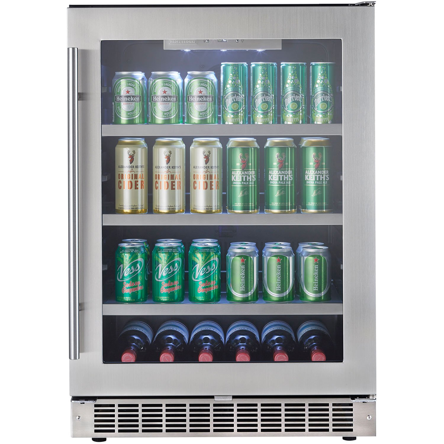 amazoncom danby silhouette builtin beverage center 56 cubic feet steelglass appliances - Beverage Center