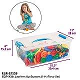 ECR4Kids Lace and Tie Buttons | 144 Piece Sensory
