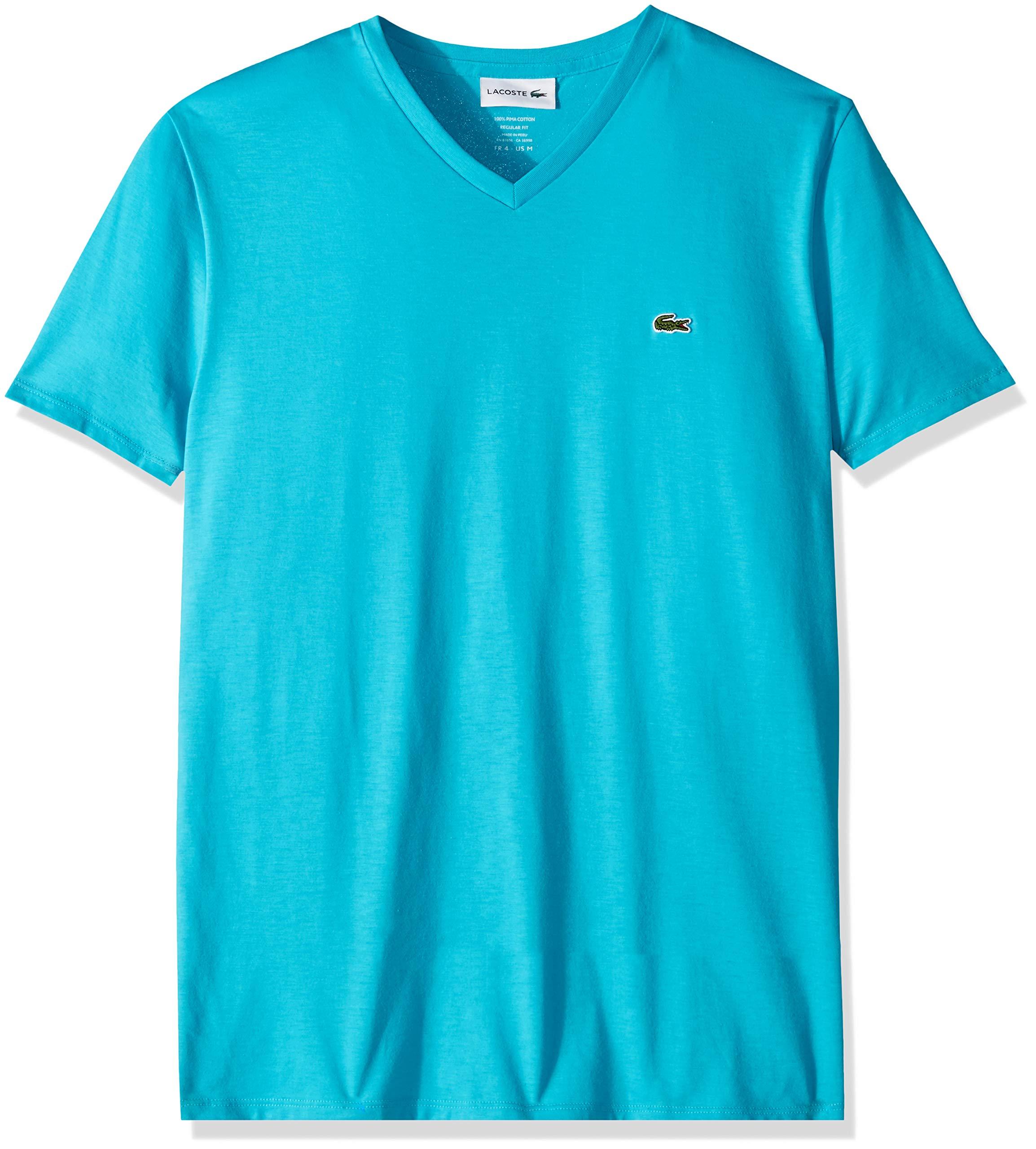 Lacoste Men's Short Sleeve V-Neck Pima Cotton
