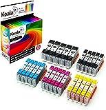 Koala 25 Druckerpatronen kompatibel für Canon PGI-550 CLI-551 PGI550 CLI551 für Canon Pixma IX6850 IP7250 IP8750 MG5450 MG5550 MG6350 MG6450 MG7150 5*Schwarz 5*Foto-Schwarz 5*Cyan 5*Magenta 5*Gelb