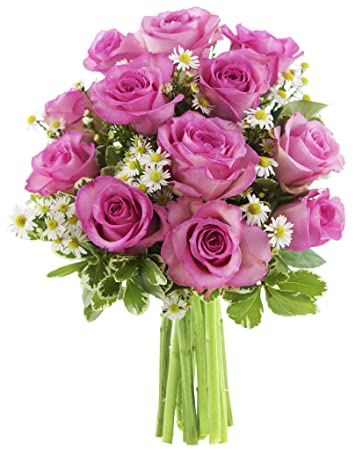 Let Them Eat Cake Bouquet Of Pink Roses And White Hydrangeas