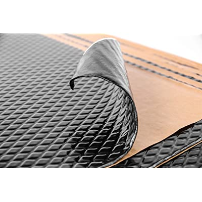 Noico Black 80 mil 10 sqft Car Sound Deadening Mat, Butyl Automotive Sound Deadener, Audio Noise Insulation and Dampening: Automotive