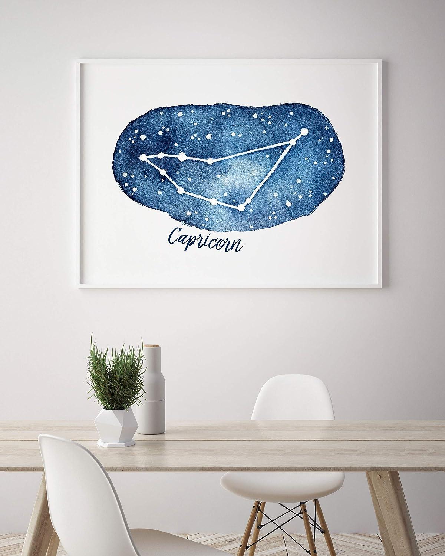 Capricorn Constellation A4 Framed Print