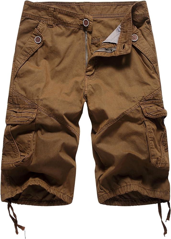 AYG Hombre Bermudas Cargo Pantalón Cortos de Verano Militares ...