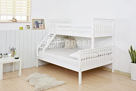 Pioneer Triple Bunk Bed Kids Beds Adults Beds In White Bunk Bed For