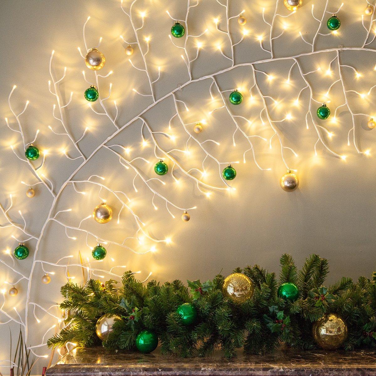 Amazon.com - 10\' Lighted Climbing Decorative Vine, Indoor/Outdoor ...