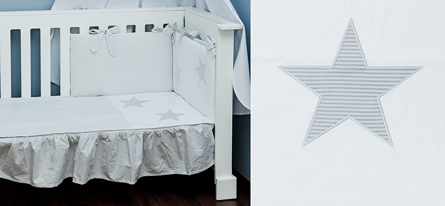 30x60cm Safe for Babies C COT Bed 70x140cm Duvet Cover Bedding Set 100x135cm Vizaro 100/% Luxury Cotton OekoTex Dim Great Laced Star Made in EU