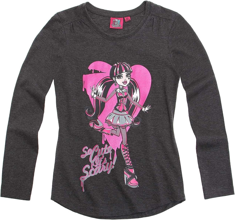 Camiseta de Manga Larga LamaLoLi para ni/ña Gris Gris Oscuro