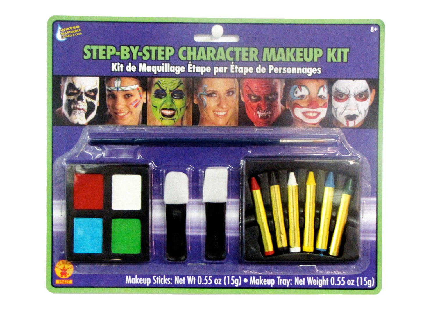 Rubie's Women's Step-By-Step Character Makeup Kit, Multicolor, One Size