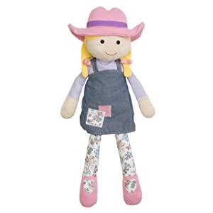 Apple Park Organic Farm Buddies - Farm Girl Susie Sunshine Plush Baby Toy for Newborns, Infants, Toddlers - Hypoallergenic, 100% Organic Cotton