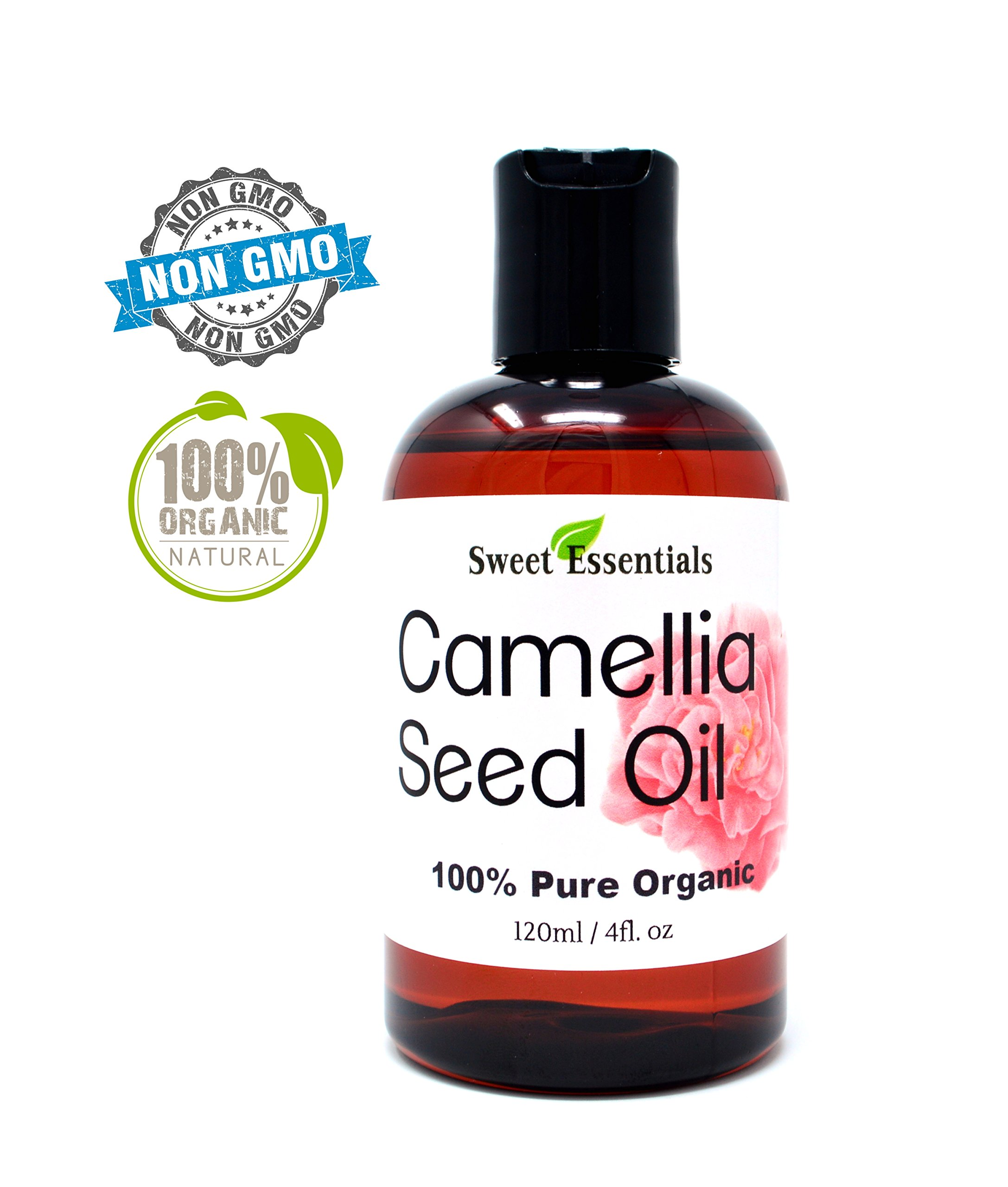 Organic Camellia Seed Oil | Imported From Japan | 4oz Bottle | 100% Pure | 100% Organic | For Hair & Skin Use | Japanese Beauty Oil | Camellia Oleifera