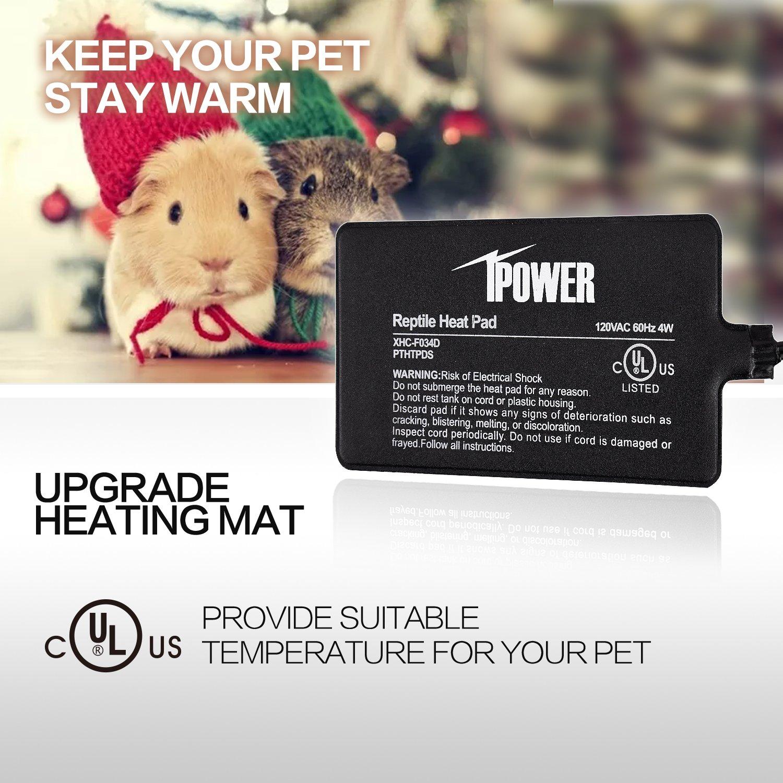 iPower 8 by 12-Inch 16 Watt Reptile Heat Pad Under Tank Terrarium Heater Heat Mat for Small Animals by iPower (Image #3)