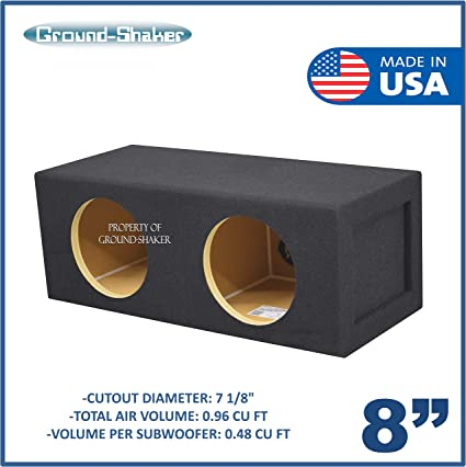 8 Dual Sealed Subwoofer Enclosure 0.96 Cubic FT.