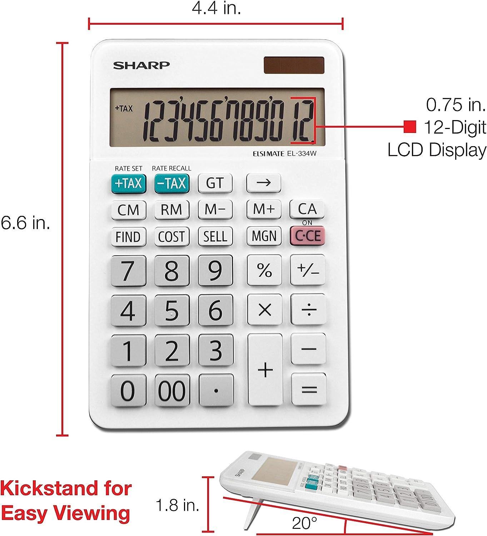 Sharp EL-334WB Business Taschenrechner wei/ß 4.0 Pack 3