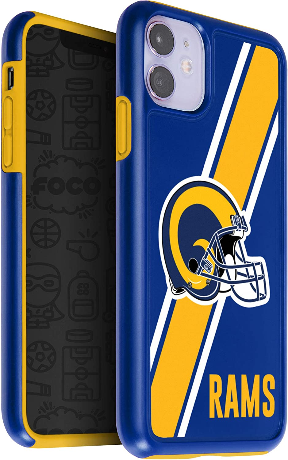 FOCO NFL St Louis Rams Unisex iPhone 11 6.1 Inch/ Screen Only /Dual Layered Impact Licensed Case Team Color One Size
