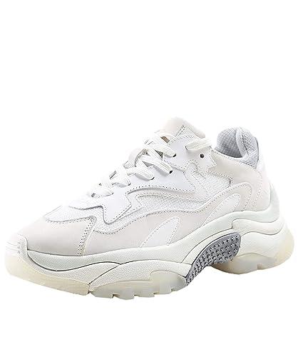7a47980eddd Ash Femmes Baskets en Cuir Addict BIS Blanc  Amazon.fr  Chaussures ...