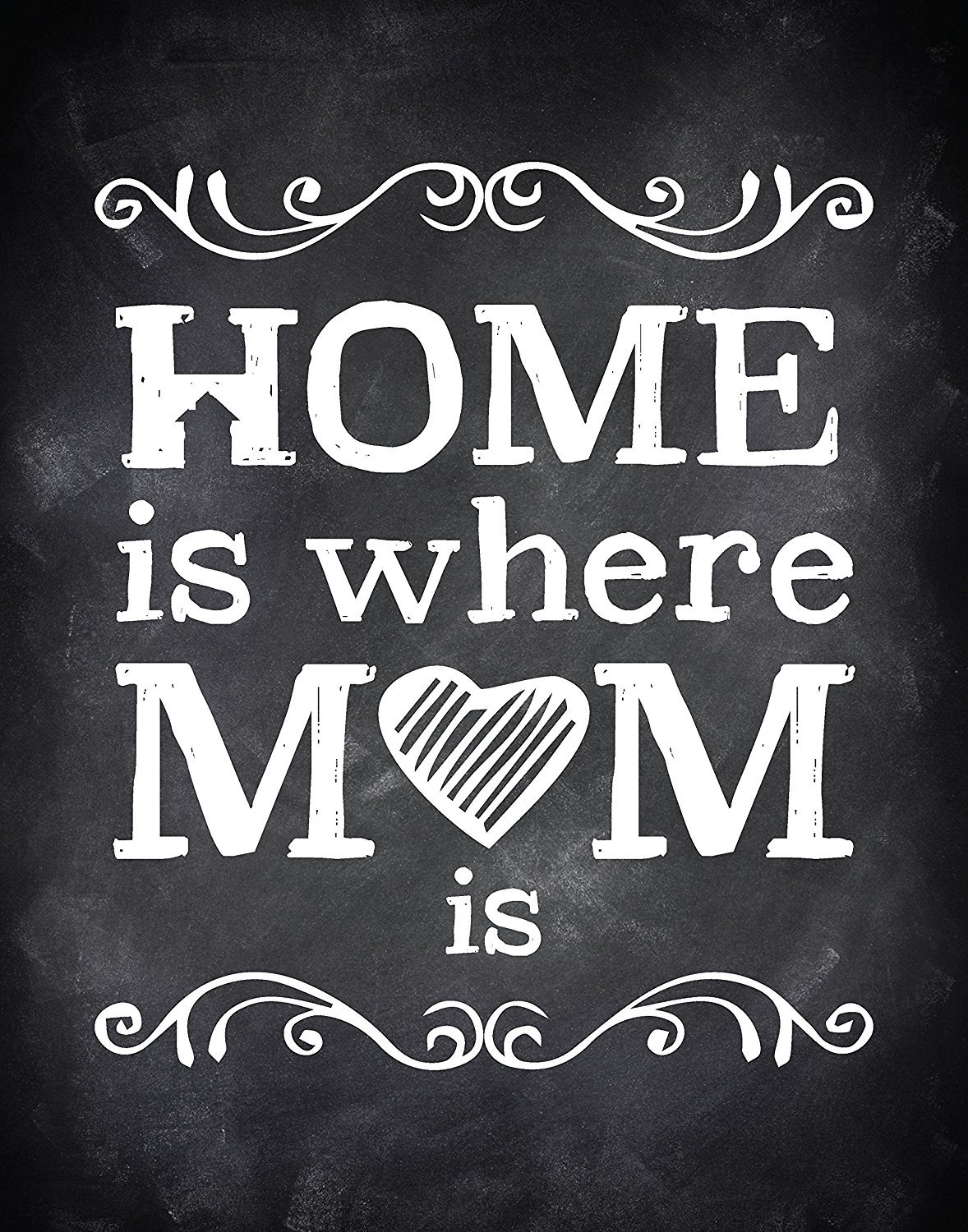 Home Is Where Mom Is, Mom's Decor, 11x14 Wall Print, Mother's Wall Art, Mother's Day Print, Nursery Decor, Gift For Mom Mom's Decor 11x14 Wall Print Mother's Wall Art Mother's Day Print