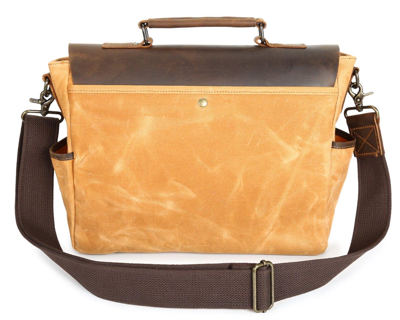 95fcf63a80ca Amazon.com: Shengjuanfeng Men's Messenger Bag Oil Wax Canvas Bag ...