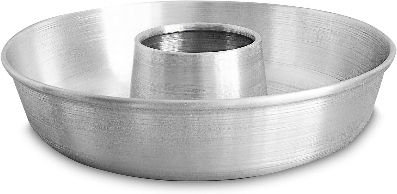 Aluminum Cake Ring Pan (11.2 in) - Tube Pan for Baking Pound Cake - Tube Cake Pan - Cake Pan Tube - Fluted Tube Pan - Flan Mold - Flan Cake Pan - Flan Pan - Chiffon Cake Pan - Bundt Cake Pan
