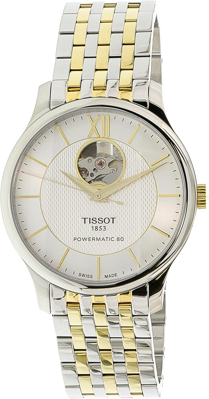 0624d2e71 Amazon.com: Tissot Tradition Powermatic 80 Automatic Mens Watch  T063.907.22.038.00: Tissot: Watches