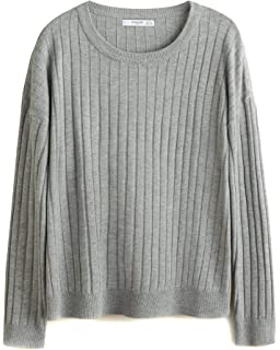 46671bf3c1d2bd MANGO Women's Recycled Polyester Sweater 43040605 Blue: Amazon.co.uk ...