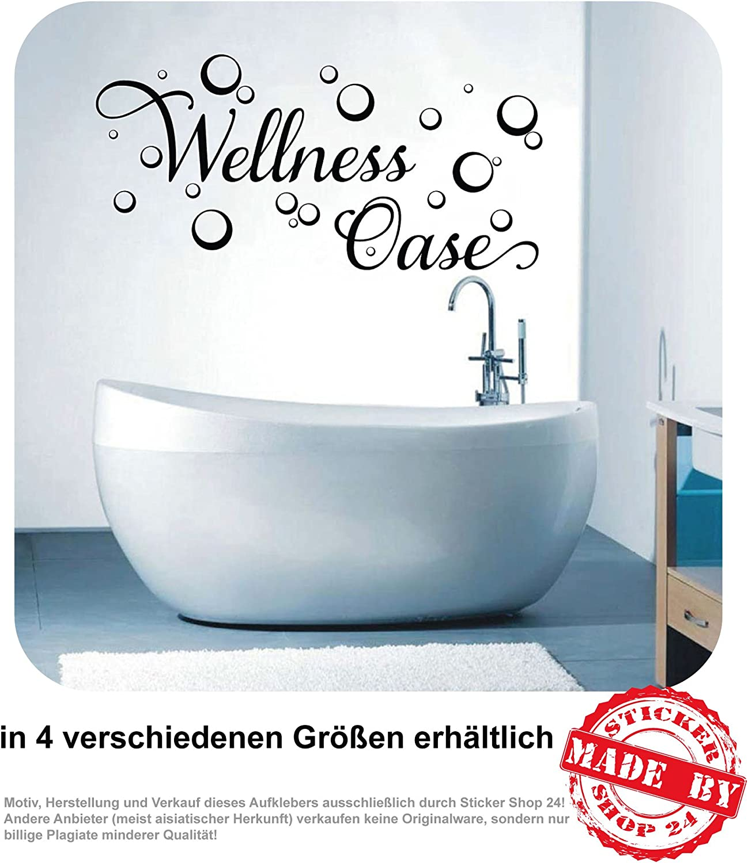 Wandtattoo Wellness Oase Wandaufkleber Aufkleber Badezimmer Bad 1110 Farben  zur Auswahl (1110,110 cm x 110,110 cm)