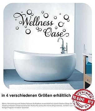 Wandtattoo Wellness Oase Wandaufkleber Aufkleber Badezimmer Bad 30 Farben  zur Auswahl (80,0 cm x 39,0 cm)