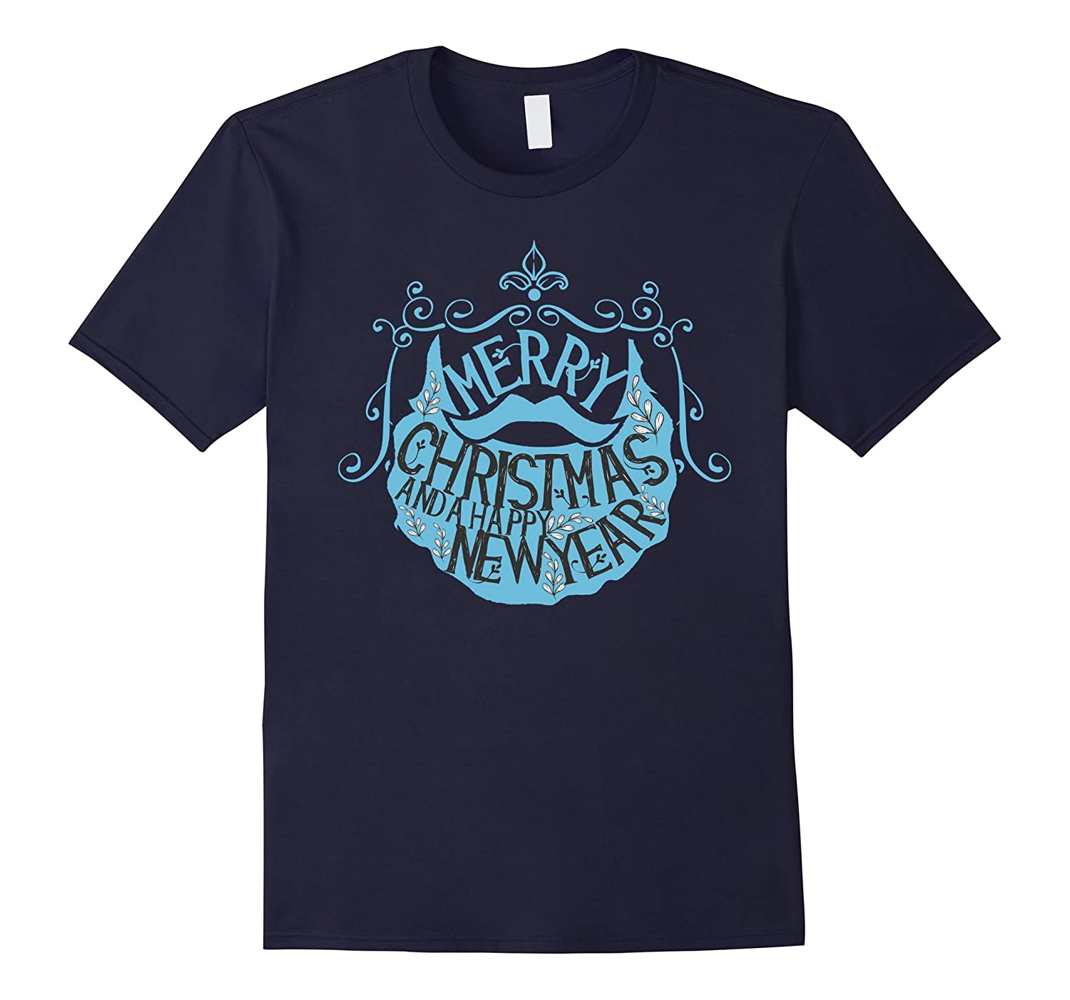 Beard T-Shirt Merry Christmas And Happy New Year T Shirt-CL