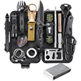 EILIKS Survival Gear Kit, Emergency EDC Survival Tools 24 in 1 SOS Earthquake Aid Equipment, Cool Top Gadgets Valentines…