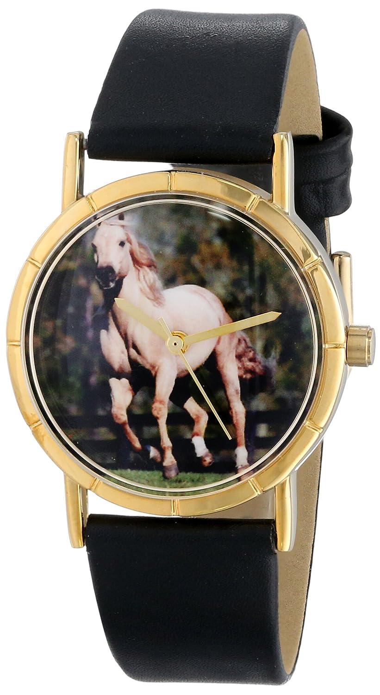 Whimsical Watches P-0110024 - Reloj analógico de Cuarzo Unisex, Correa de Cuero