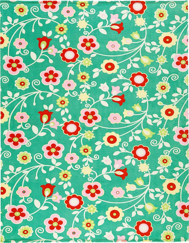 50x38x13 cm Fidji Turquoise biederlack 150/x 200/cm Sunny Days Summer Couverture Polaire Microfibre Green