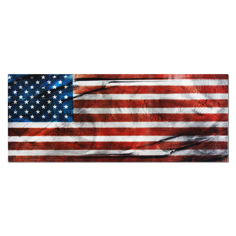 Metal Art Studio 'American Glory' Urban American Flag Wall Art by Metal Art Studio