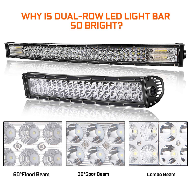306W 22inch Flood Spot Combo Beam Led Work Light Bar Free 4Inch 36W LED Pods