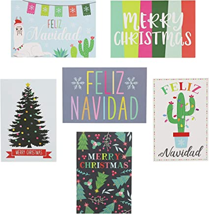 Amazon.com: PaperJunkie Merry Christmas - Tarjetas de ...