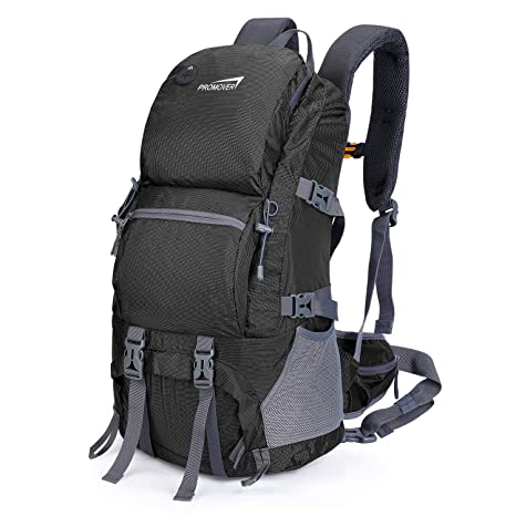 e9aab8c6517a Promover 48L Hiking Backpack Travel Daypack Water-Repellent Backpack for Climbing  Camping Touring Mountaineering Fishing