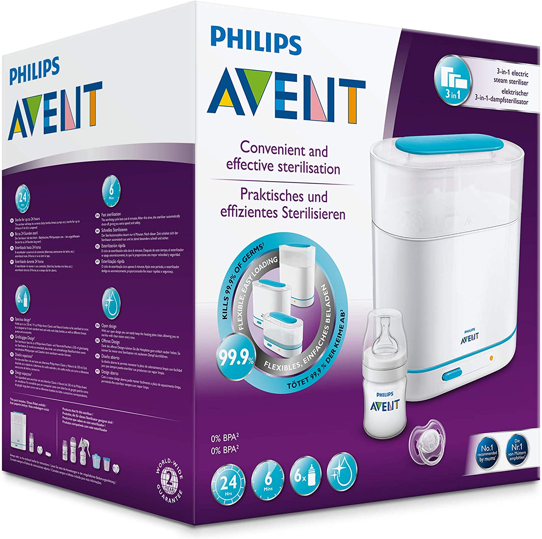 Philips Avent SCF285/02 - Esterilizador a vapor eléctrico 3 en 1 ...